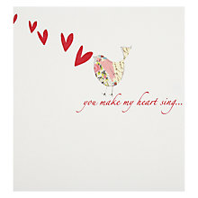 Buy Caroline Gardner You Make My Heart Sing - Bird Valentine's Card Online at johnlewis.com