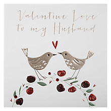 Buy Belly Button Valentine Love To My Husband Valentine's Card Online at johnlewis.com
