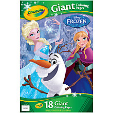 Buy Disney Frozen Crayola Giant Colouring Pages Online at johnlewis.com