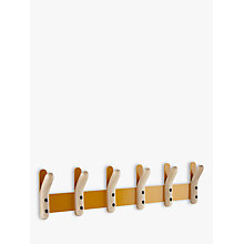Buy Oliver Hrubiak for John Lewis Node Horizontal 6-Peg Coat Hook Online at johnlewis.com