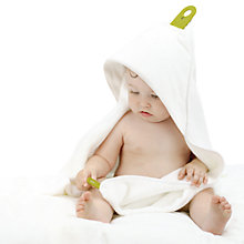 Buy Puj Hug Baby Towelling Robe, White Online at johnlewis.com