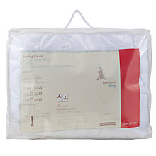 Buy John Lewis Supersoft Bedding Bundle, 7 Tog, White Online at johnlewis.com