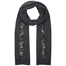 Buy Hobbs Ditsy Flower Scarf, Black/Multi Online at johnlewis.com