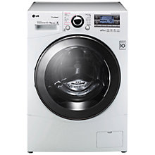 Buy LG F1695RDH Washer Dryer, 12kg Wash/8kg Dry Load, A++ Energy Rating, 1600rpm Spin, White Online at johnlewis.com