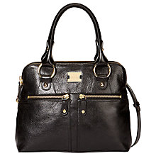 Buy Modalu Pippa Mini Leather Grab Bag, Black Online at johnlewis.com