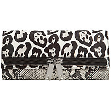 Buy Ted Baker Lione Exotic Leather Zip Clutch Bag, Black Online at johnlewis.com