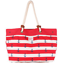 Buy Brakeburn Anchor Beach Bag, Red Online at johnlewis.com