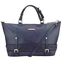 Buy Somerset by Alice Temperley Quailgate Mini Leather Grab Bag, Navy Online at johnlewis.com