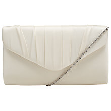 Buy John Lewis Martina Satin Clutch Bag, Nude Online at johnlewis.com