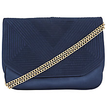 Buy John Lewis Satin Double Pocket Across Body Bag, Navy Online at johnlewis.com