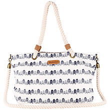 Buy Brakeburn Hut Print Beach Bag, Cream Online at johnlewis.com