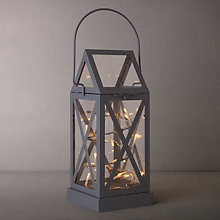 Buy Sirius Aske LED Outdoor Lantern Light, Grey Online at johnlewis.com