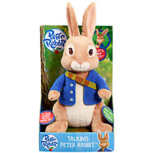 Buy Peter Rabbit Talking Soft Toy Online at johnlewis.com