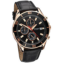 Buy Sekonda 1051.27 Men's Chronograph Leather Strap Watch, Black Croc Online at johnlewis.com