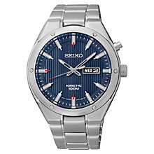 Buy Seiko SMY149P1 Men's Kinetic Watch, Silver/Blue Online at johnlewis.com