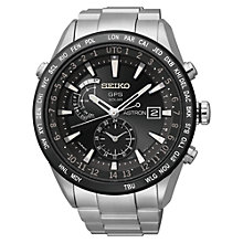 Buy Seiko Astron SAST021G Men's GPS Solar Watch Online at johnlewis.com