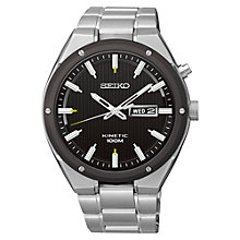 Buy Seiko SMY151P1 Men's Kinetic Stainless Steel Bracelet Watch, Silver/Black Online at johnlewis.com