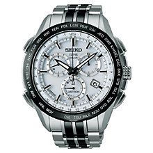 Buy Seiko Astron SSE001J1 Men's GPS Titanium Watch, Silver / Black / White Online at johnlewis.com