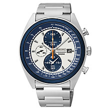 Buy Seiko SNDF87P1 Men's Chronograph Watch, Silver Online at johnlewis.com