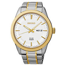 Buy Seiko SNE364P1 Men's Solar Watch, Gold / Silver Online at johnlewis.com