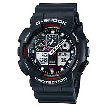 Buy Casio GA-100-1A4ER G-Shock Men's Resin Strap Watch, Black Online at johnlewis.com