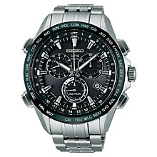 Buy Seiko Astron SSE003J1 Men's GPS Titanium Watch, Silver / Black Online at johnlewis.com