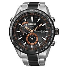 Buy Seiko Astron SAST017G Men's GPS Solar Chronograph Watch Online at johnlewis.com