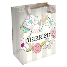 Buy Caroline Gardner Just Married Wedding Gift Bag, Medium Online at johnlewis.com