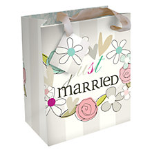 Buy Caroline Gardner Just Married Wedding Gift Bag, Small Online at johnlewis.com