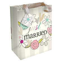 Buy Caroline Gardner Just Married Wedding Gift Bag, Large Online at johnlewis.com