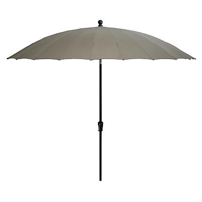 4 Seasons Outdoor Shanghai Tilting Round Parasol, Taupe, 3m