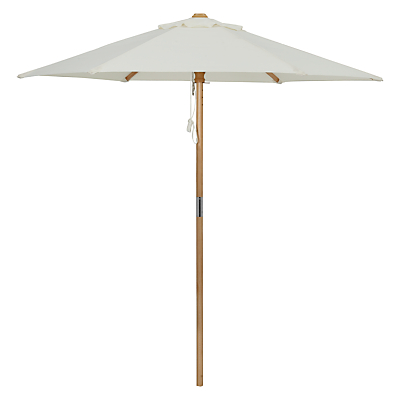John Lewis Wooden Parasol, 2m, Oyster