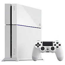 Buy Sony PlayStation 4 Console, 500GB, White with Uncharted 4: A Thief's End & PS4 DualShock 4 Controller, Blue Online at johnlewis.com