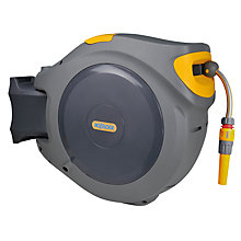 Buy Hozelock Retracting Wall-Mounted Hose Reel, 40m Online at johnlewis.com