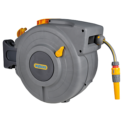 Hozelock Retracting Wall-Mounted Hose Reel, 20m
