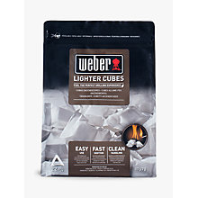 Buy Weber Fire Lighter Cubes, 417g Online at johnlewis.com