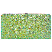 Buy Dune Beline Glitter Hard Case Clutch Bag, Green Online at johnlewis.com