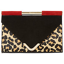 Buy Dune Ebarrio Suede Clutch Bag, Red Online at johnlewis.com