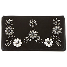 Buy Dune Ewow Embellished Flap Over Clutch Bag Online at johnlewis.com