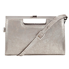 Buy Peter Kaiser Wye Patent Clutch Bag, Silver Online at johnlewis.com