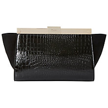 Buy Dune Ewinged Mixed Material Winged Clutch Bag Online at johnlewis.com