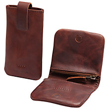 Buy Selected Homme Wallet Case for iPhone 5 & 5S, Brown Online at johnlewis.com