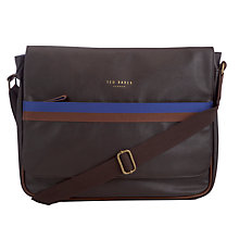 Buy Ted Baker Benat Web Messenger Bag, Chocolate Online at johnlewis.com