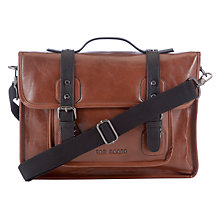 Buy Ted Baker Thefox Crossgrain Despatch Bag, Tan Online at johnlewis.com