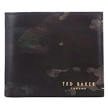 Buy Ted Baker Fallot Camo Wallet, Green Online at johnlewis.com