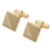 Buy Ted Baker Strocuf Text Square Cufflinks Online at johnlewis.com