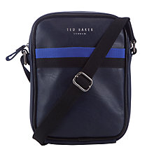 Buy Ted Baker Contrast Trim Flight Bag, Navy Online at johnlewis.com
