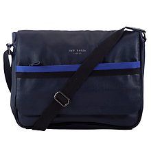 Buy Ted Baker Benat Web Messenger Bag, Navy Online at johnlewis.com