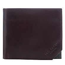 Buy Ted Baker Promenz Cut Corner Wallet, Chocolate Online at johnlewis.com