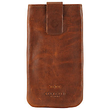 Buy Selected Homme Wallet Case for iPhone 4 & 4S, Brown Online at johnlewis.com